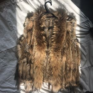 Jackets & Blazers - Real fur vest